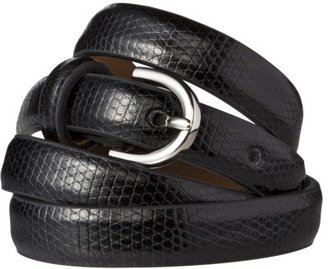 Merona Skinny Belt with Round Buckle - Black