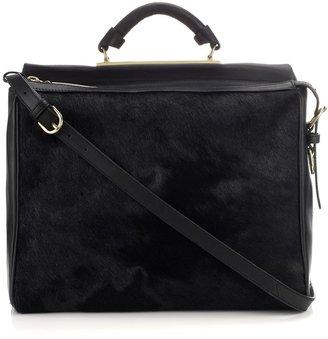 3.1 Phillip Lim Black Fur Ryder Shoulder Bag