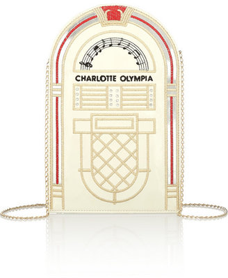 Charlotte Olympia Jukebox patent-leather clutch