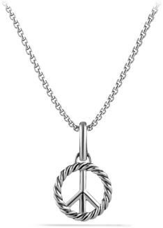 David Yurman Cable Collectibles Peace Sign Charm