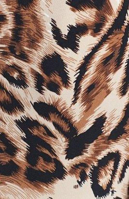 Chaus Animal Print Knot Front Sheath Dress
