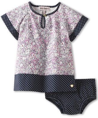 Juicy Couture Short Sleeve Dress and Bloomer Set (Infant) (Sheffied Garden) - Apparel