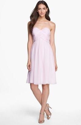 Donna Morgan 'Morgan' Strapless Silk Chiffon Dress (Regular & Plus)