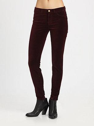 J Brand Mid-Rise Velvet Leggings