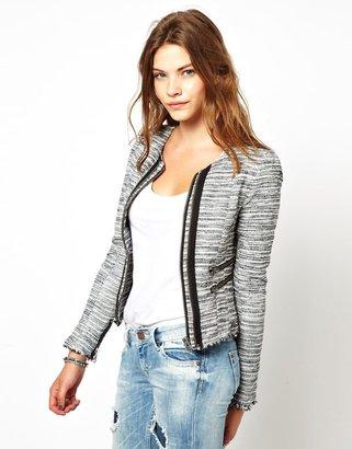 Pepe Jeans Metallic Zip Front Jacket
