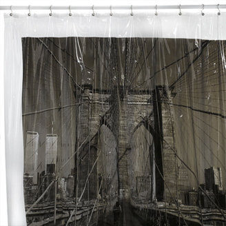 "Bed Bath & Beyond Brooklyn Bridge, New York City 72"" x 72"" Vinyl Shower Curtain"