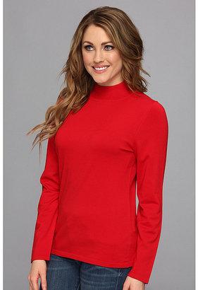 Pendleton Washable Silk-Blend Mock Neck Pullover