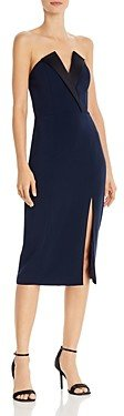 Jay Godfrey Tinsley Strapless Midi Dress