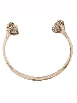 House Of Harlow Talon and Diamond Cuff Bracelet with Dorado Crystal Pave