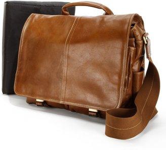 Amerileather AmeriLeather Legacy Woody Leather Portfolio Messenger Bag