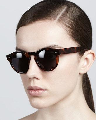 Illesteva Leonard Round Sunglasses, Havana