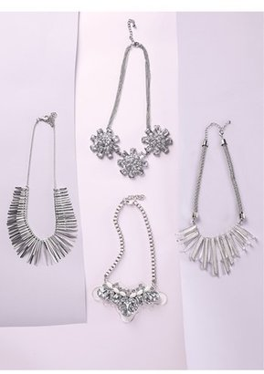 Tasha Spike Statement Necklace