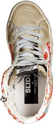 Golden Goose Leather/Sequin Slide Hi-Sneakers
