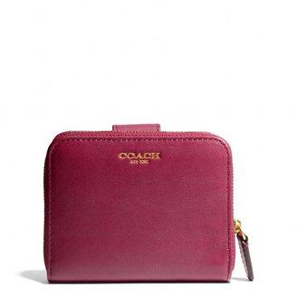 Coach Legacy Medium Zip Around Wallet In Leather