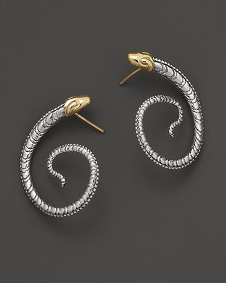 Konstantino Sterling Silver And 18K Yellow Gold Earrings