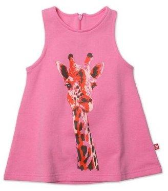 Zutano Girls 2-6X Giraffe Screen Terry Jumper