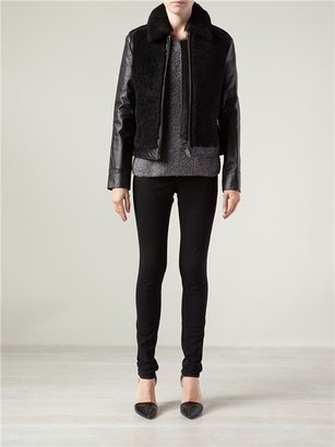 Alexander Wang Grizzly Shearling Moto Jacket