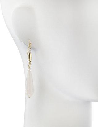 Greenbeads Jade Drop Earrings, Ivory