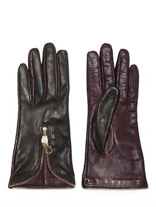 Salvatore Ferragamo Two Tone Nappa Leather Gloves