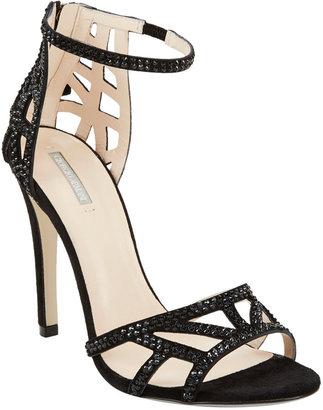 Armani Crystal-Embellished Ankle-Strap Sandals