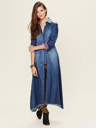 Jens Pirate Booty Old West Cold Shoulder Maxi Dress