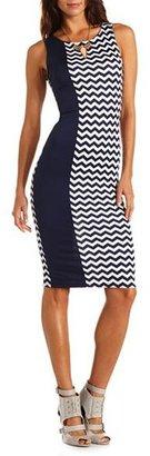 Charlotte Russe Color Block Chevron Midi Dress