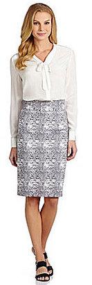 Antonio Melani Bertie Snake Jacquard Skirt