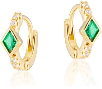 V By Laura Vann Virginia 18kt Gold-plated Hoop Earrings