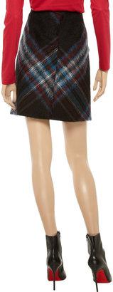 Jil Sander Plaid wool-blend skirt