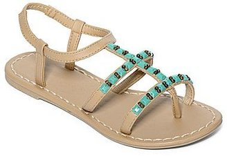 JCPenney Beaded Strappy Flip Flops