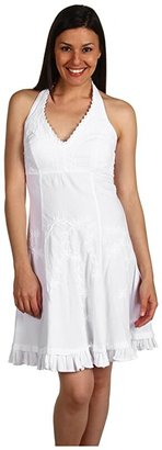 Scully Cantina Halter Dress (White) Women's Dress