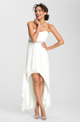 Xscape Evenings Embellished Waist Chiffon Gown (Online Only)