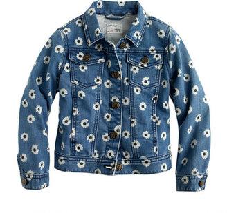 J.Crew Girls' denim jacket in daisy print