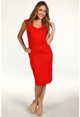 Anne Klein Petite - Petite Sleeveless Dress w/ Princess Seams (Poppy Red) - Apparel