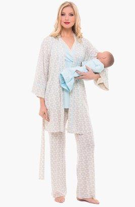 Olian 4-Piece Maternity Sleepwear Set