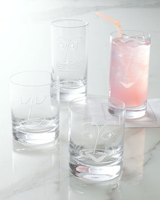 "Kate Spade Bar Belles"" Glassware"
