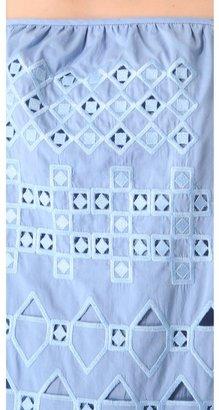 Tibi Eyelet Embroidered Dress