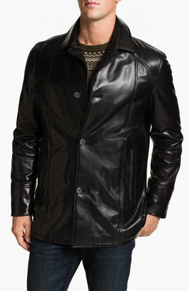 Alex & Co. Single Breasted Leather Coat