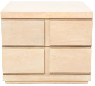 Vue Latina Side Table in Lime Washed Timber Veneer Finish