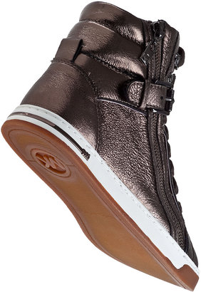 MICHAEL Michael Kors Glam Studded Sneaker Champaign Leather