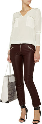 LnA Owen silk-crepe blouse