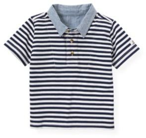 Janie and Jack Double Collar Stripe Polo Shirt