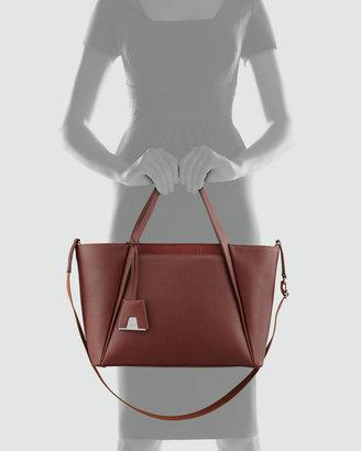 Akris Alexa Medium Business Tote Bag, Red/Brown