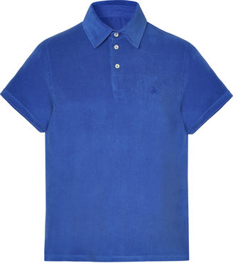 Vilebrequin Saphir Blue Terry Cloth Polo Shirt