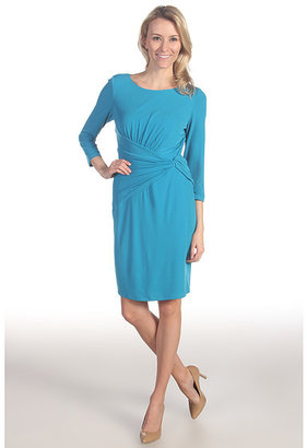 Suzi Chin for Maggy Boutique 3/4 Sleeve Ruched Sheath Dress
