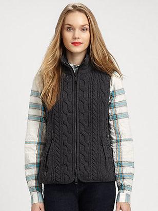 Burberry Cable Knit Vest