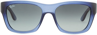 Ray-Ban Highstreet Rectangular Sunglasses, Blue