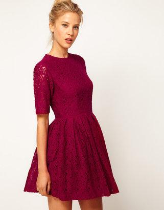 Asos Skater Dress In Lace