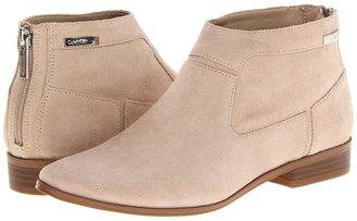 Calvin Klein Irena (Natural Suede) - Footwear