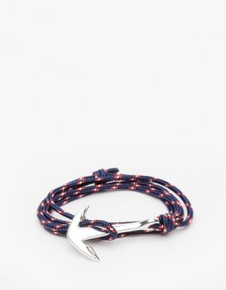 Miansai Anchor Silver Rope In Navy Blue